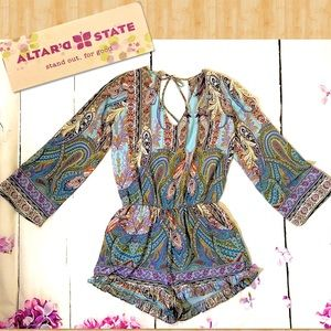 Altar'd State Paisley Chic Romper 🆕